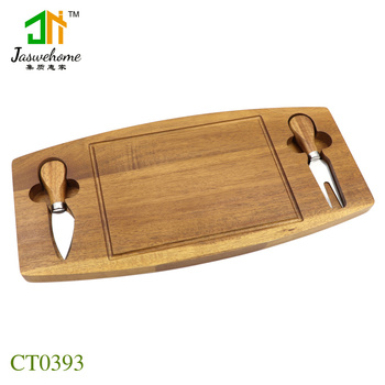 Jaswehome New 3pcs cheese tool set cheese knife blades cheese board with cheese knife set acacia cheese cutting boards set фото