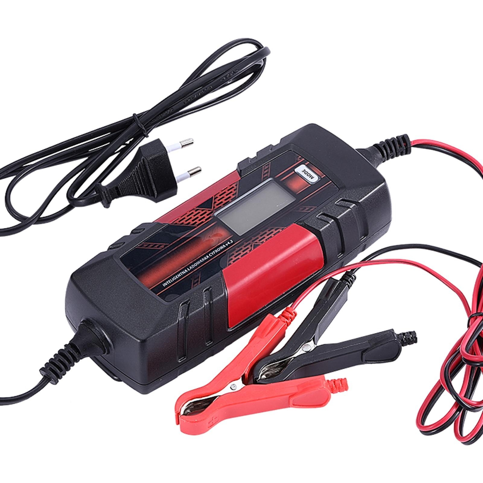 Chargeur de batterie de voiture automatique à 3 étages 12 V 4.5A dispositif de Charge de batterie Intelligent avec écran LCD pour Batteries humides AGM GEL SLA
