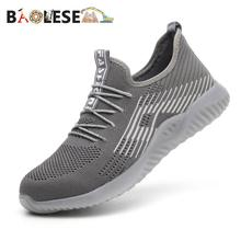 BAOLESEM Men Safety Work Shoes Steel Toe Cap Male Sneaker Lightweight anti-pierce Safey Shoe Breathable
