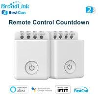 BroadLink-Interruptor de encendido BestCon MCB1 WiFi, Control remoto inteligente, temporizador de cuenta atrás programable, funciona con el asistente de Google Alexa