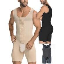 Colete abdômen modelador de cintura masculino, colete de corpo inteiro para homens plus size 6xl roupa íntima,