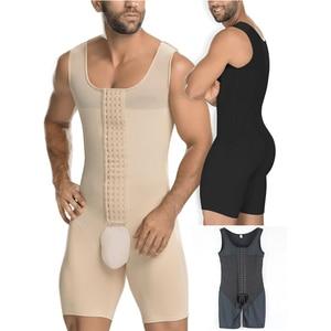 Image 1 - גברים מותניים מאמן מלא גוף Shaper Vest בטן בתוספת גודל 6XL פלדה גרומה בגד גוף פתוח מפשעה זכר Slim Fit להדק תחתונים