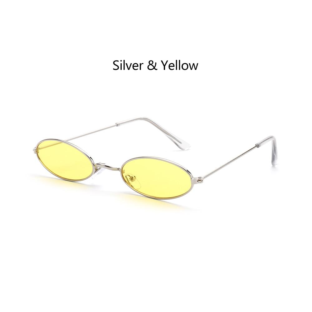Fashion Vintage Shades Sun Glasses Elegant okulary Retro Small Oval Sunglasses for Men Women Eyeglasses gafas oculos 19