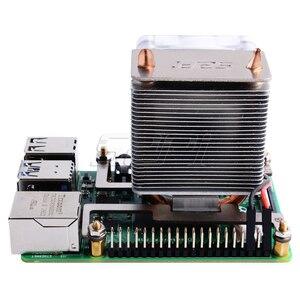 في الأسهم! 52Pi الجليد-برج CPU تبريد مروحة سوبر تبديد الحرارة الأزرق ضوء ل التوت بي 4B ل التوت بي 3B /3B +/4B