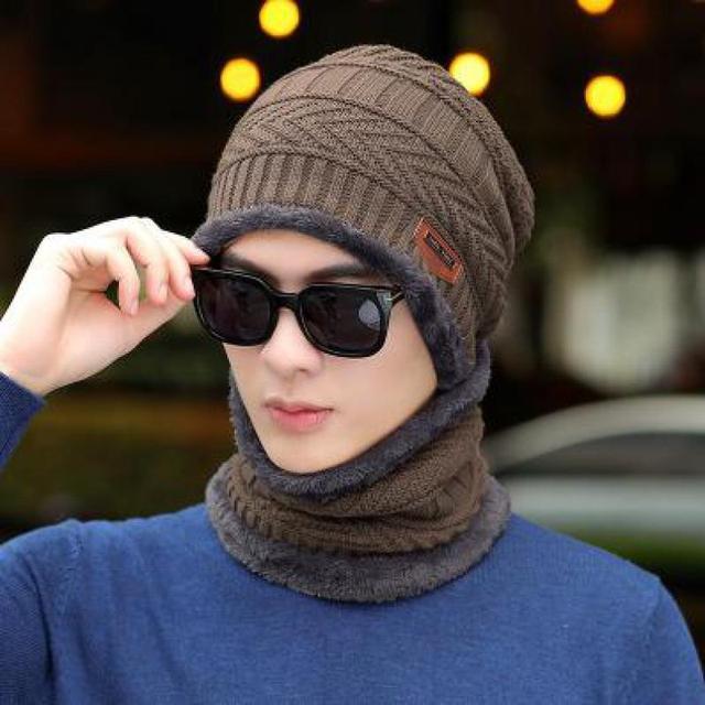 COKK Winter Beanie Hat For Men Knitted Hat Winter Cap Beanie Women Thick Wool Neck Scarf Cap Balaclava Mask Bonnet Hats Gorras 6