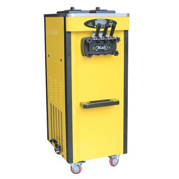 Maszyna do lodów włoskich producentów nowa przemysłowa stal nierdzewna blat miękka maszyna do lodów z 3 smakami 2000W tanie i dobre opinie Linboss 1501 ml BL25Q Chłodzenie powietrzem 6 5L *2 220V 110V 50 60 Hz 56*71 5*138cm 110kg R22 R410A