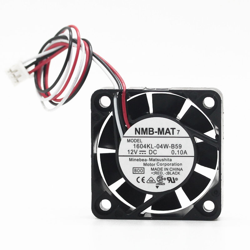 Genuine Product NMB 1604KL-04W-B59 4010 4CM 12V 0.1A Large Air Volume Double Ball Cooling Fan 40x40x10mm Cooler