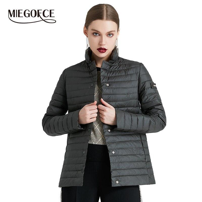 MIEGOFCE 2019 nouvelle Collection de printemps de veste élégant coupe-vent femmes Parka manteau femme printemps veste manteau femmes manteau matelassé