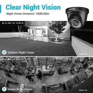 Image 5 - ANNKE 4CH H.265 + 5MP Lite Sistema CCTV DVR 4pcs 2.0MP Visione Notturna di IR di Sicurezza Della Cupola di Telecamere 1080P video di Sorveglianza Kit