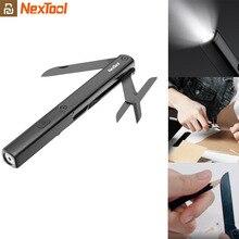 Youpin NexTool רב תכליתי 3 ב 1 עט כלים N1 פנס מספריים USB נטענת IPX4 עמיד למים נייד בחוץ כלים