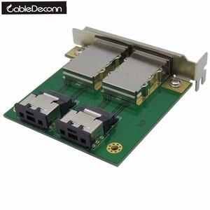 Внешняя плата адаптера Mini SAS для внутренней панели, с 36P на 2 порта, HD, sas26P, с лицевой панелью, PCI, SAS, плата адаптера для карты памяти, для использ...