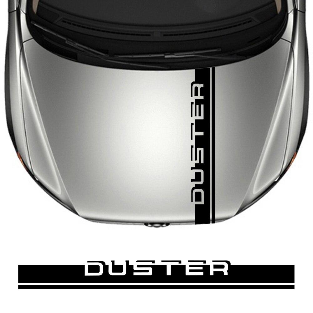 Car Hood Sticker For Dacia Duster 4X2 4X4 1.0 Tce 100 130 Turbo GPL Black Collector Prestige Vinyl Film Bonnet Decoration Decals