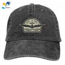 Snapback Casquettes Cowboy-Hat Denim-Cap Baseball Goldwing Plain Adjustable Retro Black