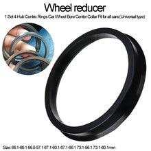 4 pezzi collare centrale foro ruota auto 66.1 60.1 66.5 57.1 67.1 60.1 67.1 66.1 73.1 56.1 73.1 60.1 mm anello centrico mozzo