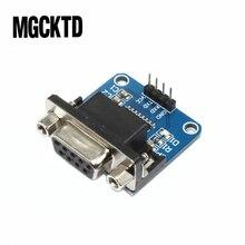 Megmoki 100 adet MAX3232 RS232 TTL Seri Port Dönüştürücü Modülü DB9 Konektörü MAX232