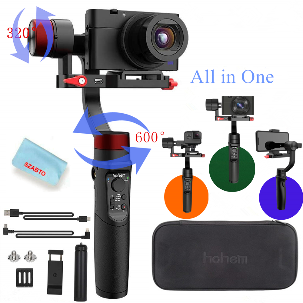 Hohem iSteady Multi 3 Axis Handheld Gimbal Stabilizer for Digital Camera Action Camera Smartphone 600° Pan Rotation Payload 400g