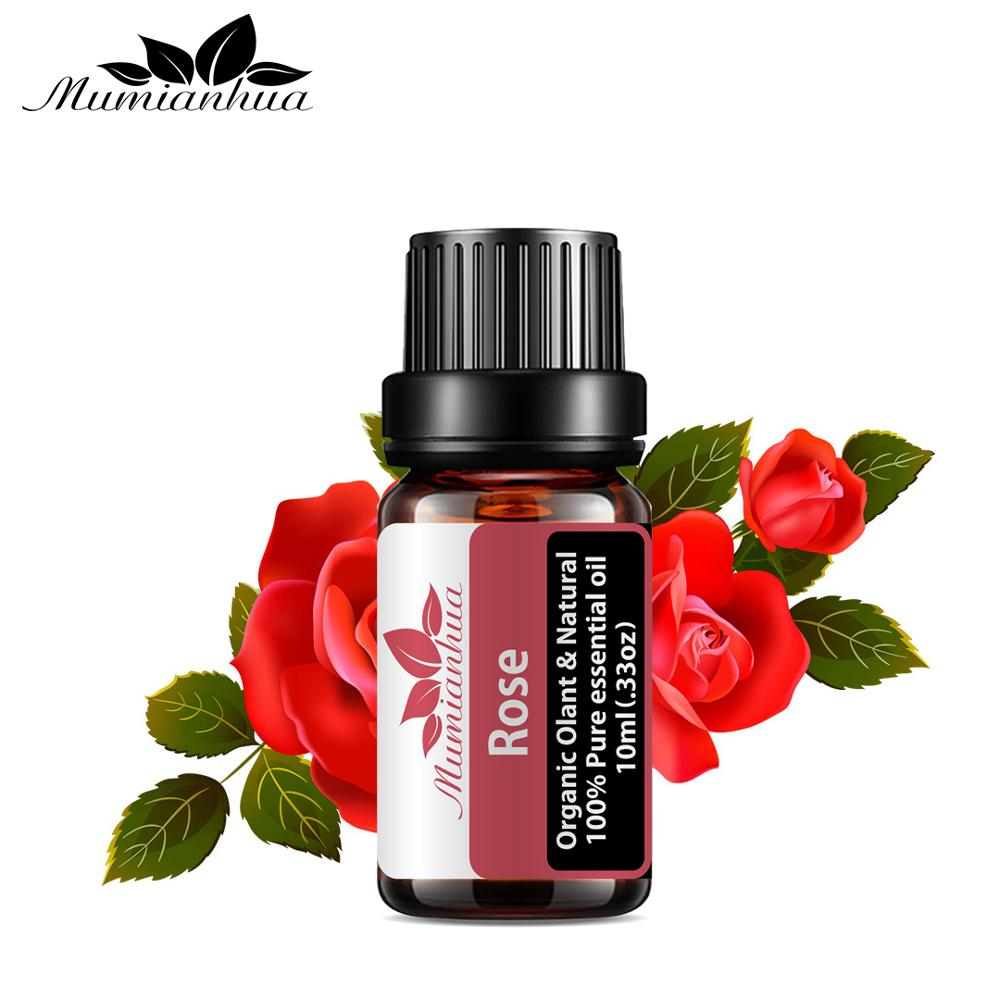 Rose Essential Oil Pure Natural 10ML Pure Essential Oils Aromatherapy Diffusers Oil emotional balance Air Fresh