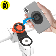 Bicycle Phone Holder,Universal Aluminum GPS Bracket Riding Clip Stand MTB Road Bicycle Cell phone Handlebar Stem Mount