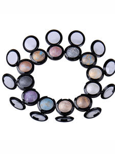 Baked Eyeshadow Palette Makeup-Products Shimmer Radiant 12-Colors Metallic