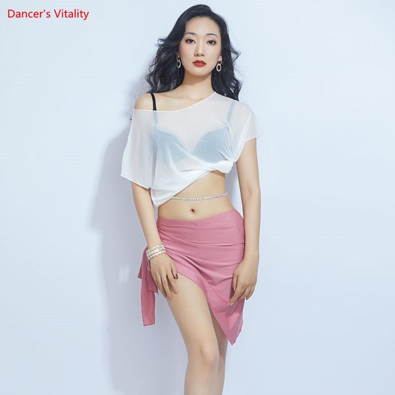 Loose Design Sexy Belly Dance Costume Set Top+short Skirt Dance Costume Oriental Dance Practice Clothes
