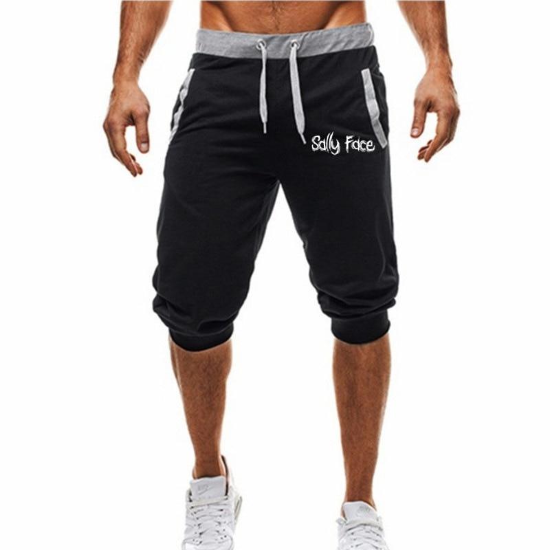 Trend Men Sports Capri Pants Drawstring Men Loose-Fit Closing Fashion Athletic Pants Short