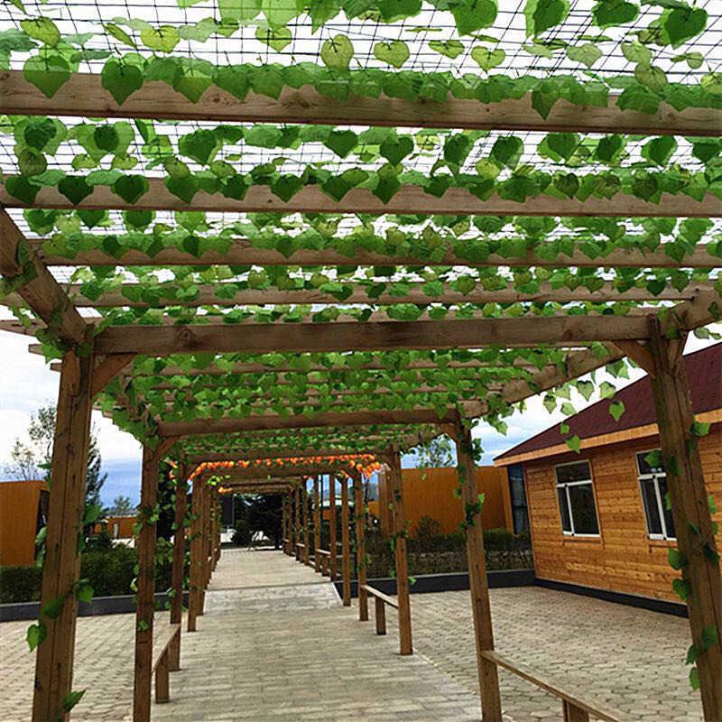 الاصطناعي العنب كرمة يترك أوراق اللبلاب كرمة الورقية في الهواء الطلق الطبيعة الأخضر حية اللون الحقيقي شجرة أوراق جدار شنقا حديقة الديكور