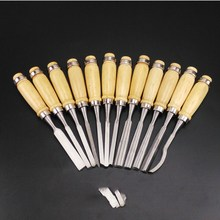 High Carbon Steel Wood Carving Chisel Set Of 12 Pieces Wood Carving Chisel 1 25mm 65 manganese steel wood working tool flat spade chisel wood chisel x 1