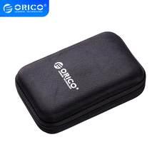 ORICO 2.5 Cal HDD SSD torba ochronna nylonowy zamek etui zewnętrzny przenośny HDD Box elektroniczny Organizer futerał do przenoszenia