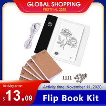 Flip-Book-Kit Light-Pad Tablet-Design Drawing-Tracing with Mini LED for 300-Sheets Paper-Screws