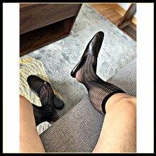 Tube Socks Men's Stocking Business Dress Stocks Formal Wear Sheer Socks