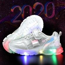 MMnun 2020 children shoes Luminous Glowing Sneakers kids sneakers for girls sneakers for boys size 26 31 ML6310