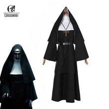 ROLECOS Women Halloween Costume The Nun Cosplay Horror Films Cross Ghost Conjuring