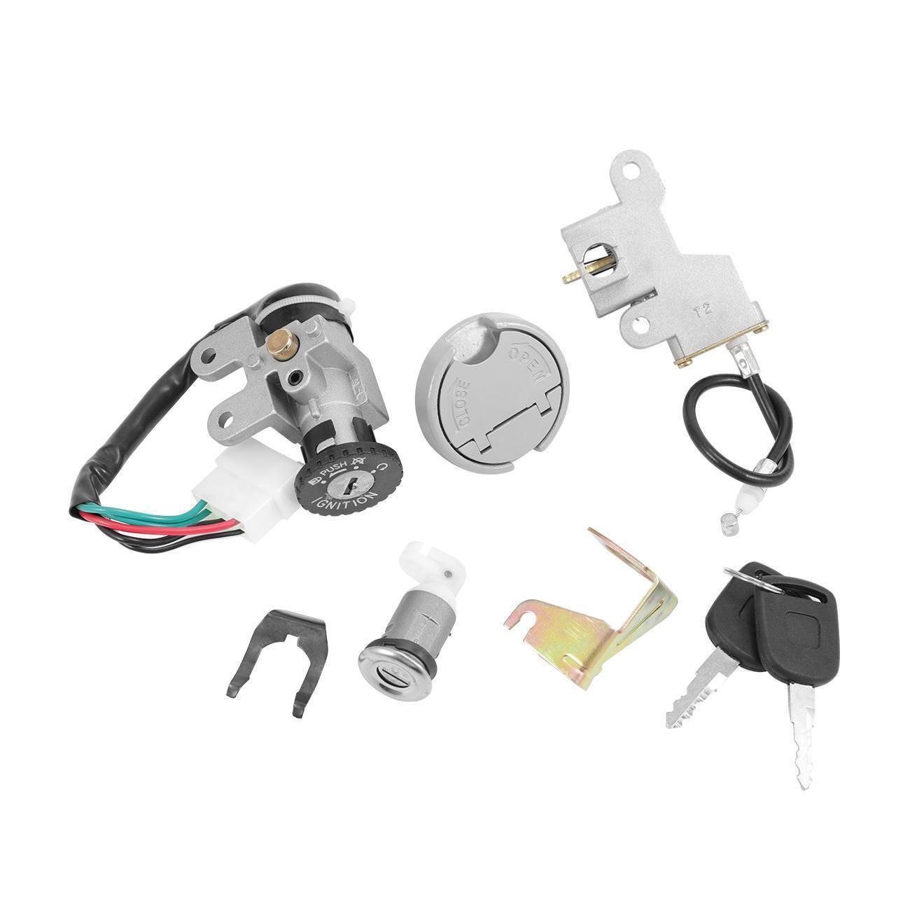 Ключ зажигания, 5 проводов, переключатель зажигания для скутера, набор контактных ключей для мопеда 110 150cc 49 50 cc TaoTao Peace Roketa Jonway