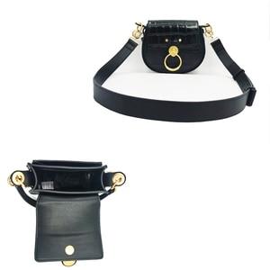 Image 5 - Selle Tess en cuir véritable pour femmes, bourse à bandoulière, motif Crocodile, marque de luxe