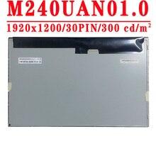 M240uan01.0 original novo 24.0 polegada 1920x1200 lvds 30pin 100% srgb 300 cd/m60 60hz 1000:1 tela lcd m240uan01 0