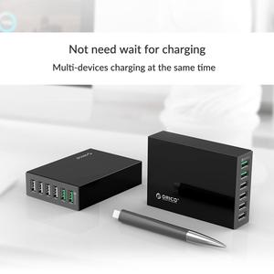 Image 2 - ORICO 6 Ports Desktop Charger QC2.0 Fast Mobile Phone USB Adapter  for Samsung Huawei Xiaomi LG iPhone EU/US/UK/AU Plug