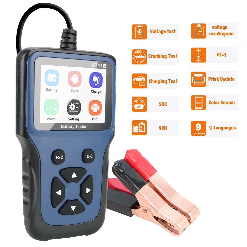 12V Automotive Auto Diagnostic Tool  V311B Car Battery Charger Tester Analyzer Car Charging Cricut Load Test Analyzer Tools