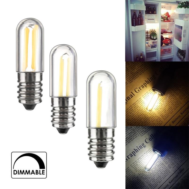 Dimmable LED COB Filament Light Bulbs Mini E12 E14 1W 2W 4W Lamps For Refrigerator Fridge Freezer Sewing Machine Home Lighting