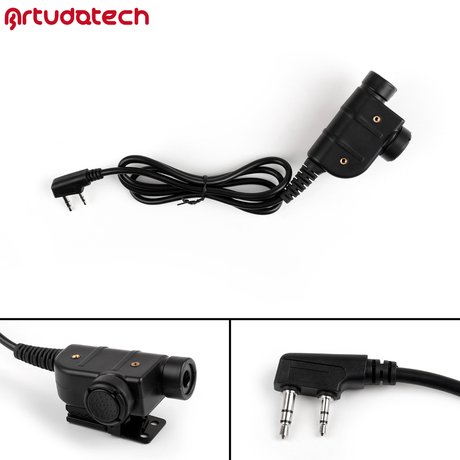 Artudatech Z-TAC Z125 Silynx Releases Chest U94 PTT For Kenwood Communication Headset For IASUS UHF Transceiver Pro Radio