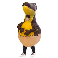 Halloween Children Dinosaur Egg Inflatable Clothing Performance Clothing Cartoon Animation Show Costume Props Supplies
