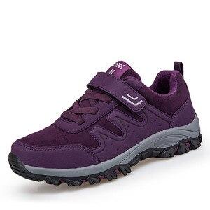 Image 2 - PINSEN 2020 yeni sonbahar kadın ayakkabı yüksek kaliteli açık yürüyüş rahat ayakkabılar kadın rahat dantel up daireler anne ayakkabısı