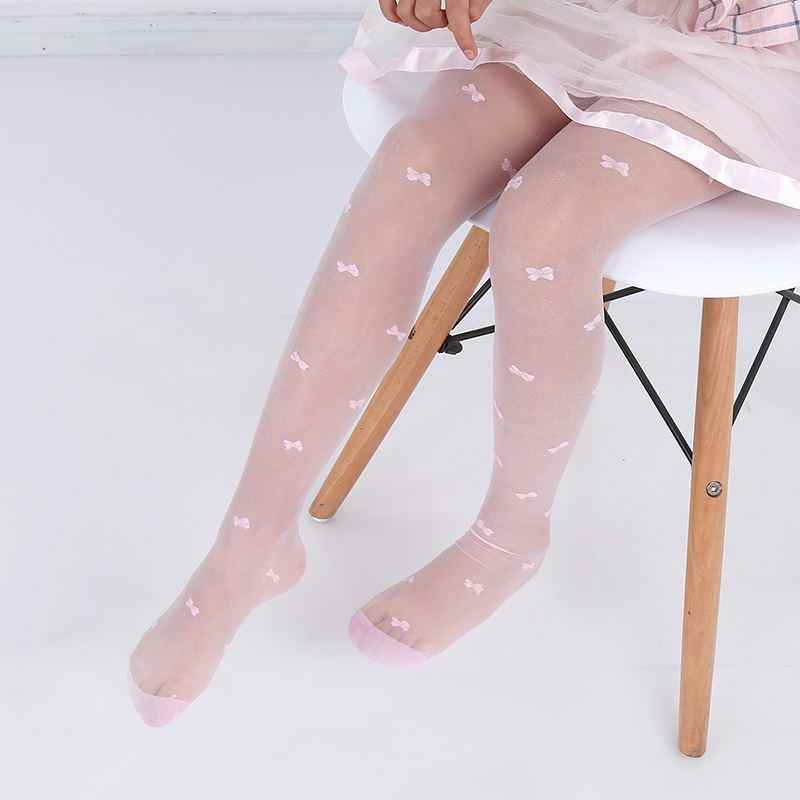 Summer Thin Children Girls Tights Ballet Dance Baby Girls Sheer Stockings Transparent Children Pantyhose for Girls 2-15 Years 00