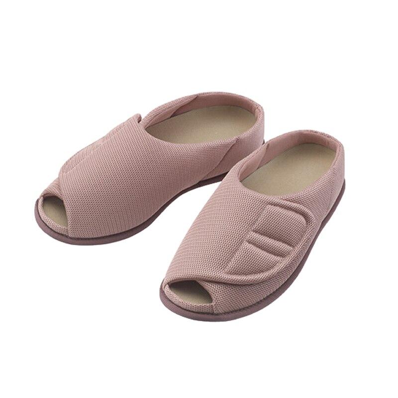 Полностью открытая обувь для пожилых людей с большими носками; многофункциональная обувь для здоровья; домашний удобный и удобный