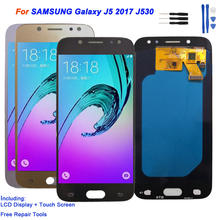 Display For SAMSUNG Galaxy J5 2017 J530 J530F LCD Display Touch Screen Digitizer Assembly Phone Parts Repair AMOLED LCD