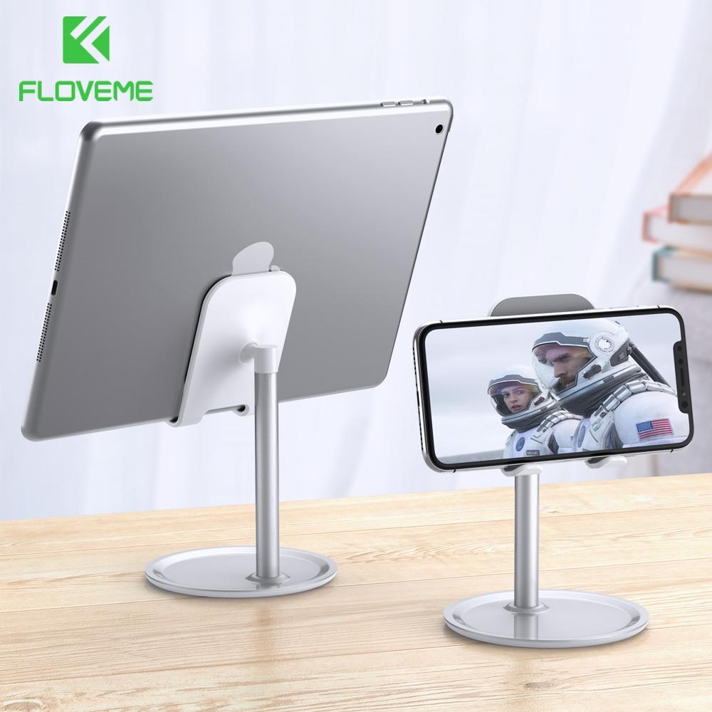 FLOVEME Universal Mobile Phone Holder Stand For iPhone Samsung Xiaomi Desktop Tablet Holder For iPad Mini Stand Suporte Celular