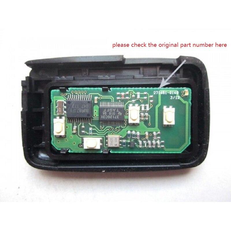 KEYECU Смарт дистанционные брелки для ключей брелок 4 кнопки 314,4 МГц для Toyota Avalon Carmy 2007 2008 2009 FCC ID: HYQ14AAB P/N: 271451 0140 - 3