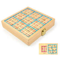 Multi-fonctionnel shu du qi jeu d'échecs enfants Force éducative Sudoku jouet bois jeu de société trois-en-un jouet d'échecs