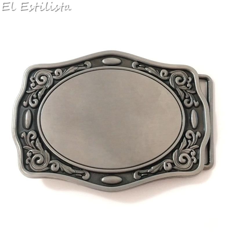 Plain Vintage Belt Buckle Western Cowboy SILVER Skull Silver HIGH QUALITY