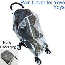 Yoyo Regenmantel Baby Kinderwagen Zubehör Regen Abdeckung Wasserdichte Abdeckung für Babyzen Yoyo Yoya Babytime Babysing Sicherheit EVA Material