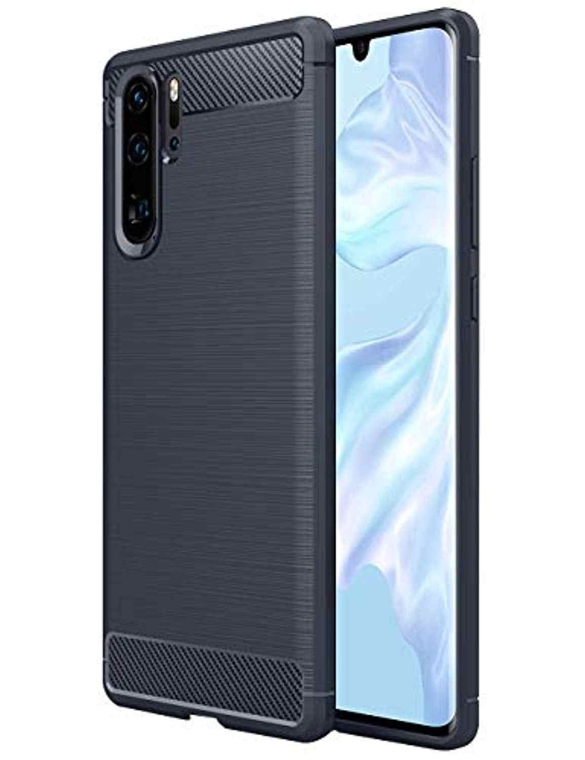 Carbon Fiber Armor TPU Silicone Case for Huawei P30 Pro P20 Lite P10 Nova 5i 5 4 3 2 Honor 9X 8X 7X View 20 10 Cover Phone Cases